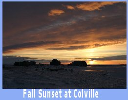 Fall sunset at Colville Village